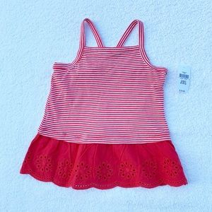 Gap Striped/Eyelet Tank Size 3T NWT